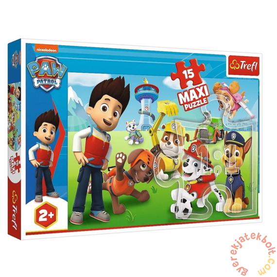 Trefl 15 db-os Maxi puzzle - Mancs őrjárat - Vicces kutyusok (14336)