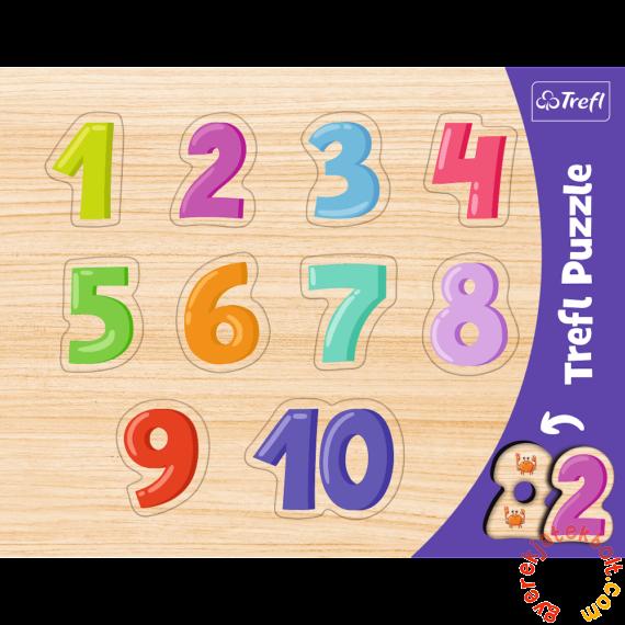 Trefl 10 db-os fahatású forma puzzle - Számok (31304)