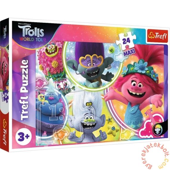 Trefl 24 db-os Maxi puzzle - Trollok a világ körül (14318)