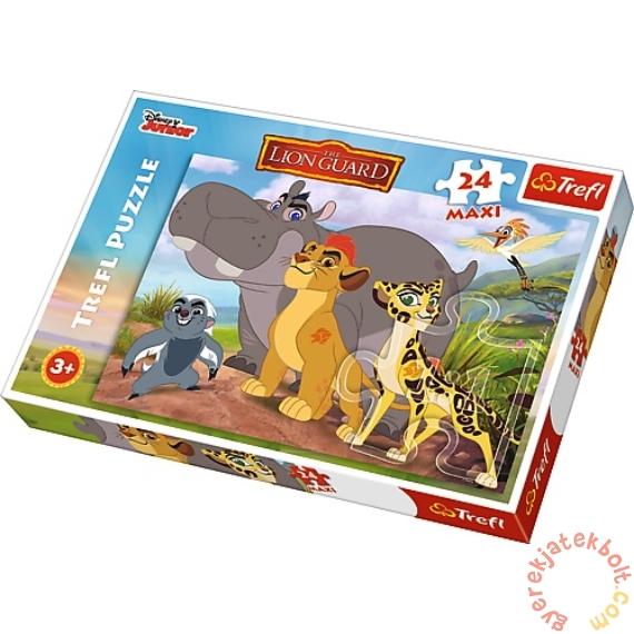 Trefl 24 db-os Maxi puzzle - Az Oroszlán őrség - Bátor őrzők (14240)