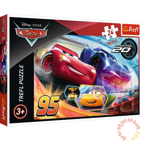 Trefl 24 db-os Maxi puzzle - Verdák - Villám McQueen és Jackson Storm (14264)