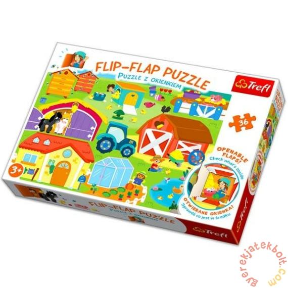 Trefl 36 db-os Flip-Flap nyitogatós puzzle - A farmon (14271)