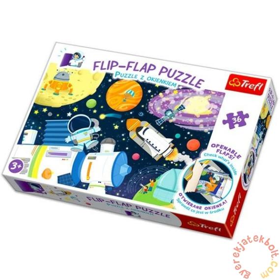 Trefl 36 db-os Flip-Flap nyitogatós puzzle - Az űrben (14272)