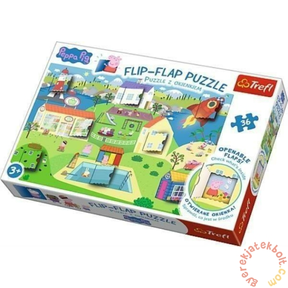 Trefl 36 db-os Flip-Flap nyitogatós puzzle - Peppa malac világa (14274)