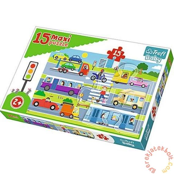 Trefl 15 db-os Baby puzzle - Városi járművek (14279)
