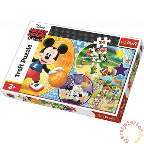 Trefl 24 db-os Maxi puzzle - Mickey egér sportol (14291)