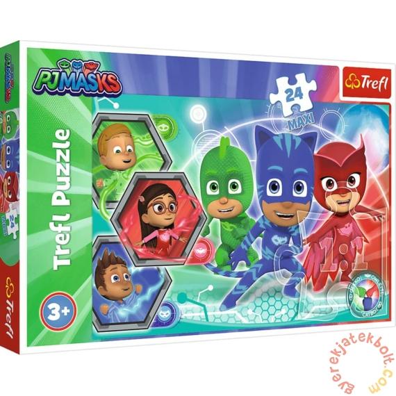Trefl 24 db-os Maxi puzzle - PJ Masks - Pizsihősök (14299)