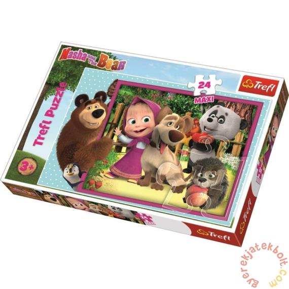 Trefl 24 db-os Maxi puzzle - Mása és a medve - Barátokkal (14301)