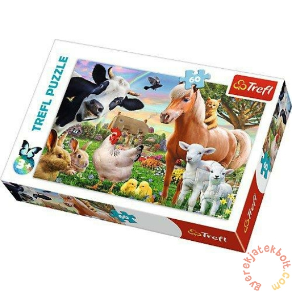 Trefl 60 db-os puzzle - Boldog farm (17320)