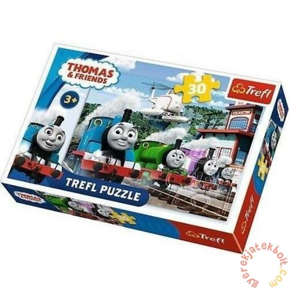 Trefl 30 db-os puzzle - Thomas és barátai - Verseny a síneken (18230)