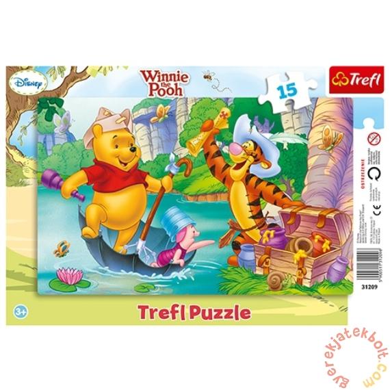 Trefl 15 db-os keretes puzzle - Micimackó és barátai - Kincsvadászat (31209)