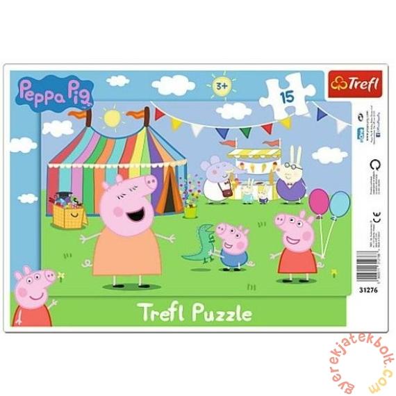 Trefl 15 db-os keretes puzzle - Peppa malac a vásárban (31276)