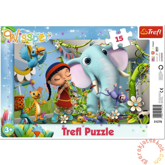 Trefl 15 db-os keretes puzzle - Wissper (31278)