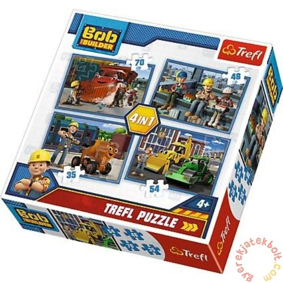 Trefl 4 az 1-ben puzzle (35,48,54,70 db-os) - Bob, az építő (34270)