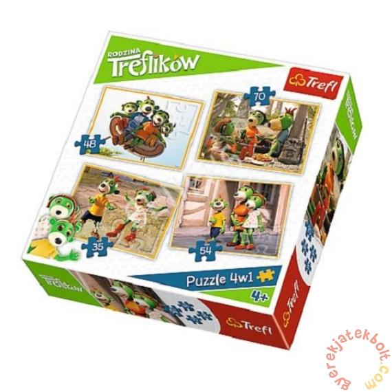 Trefl 4 az 1-ben puzzle (35,48,54,70 db-os) - A Treflikow család kalandjai (34271)