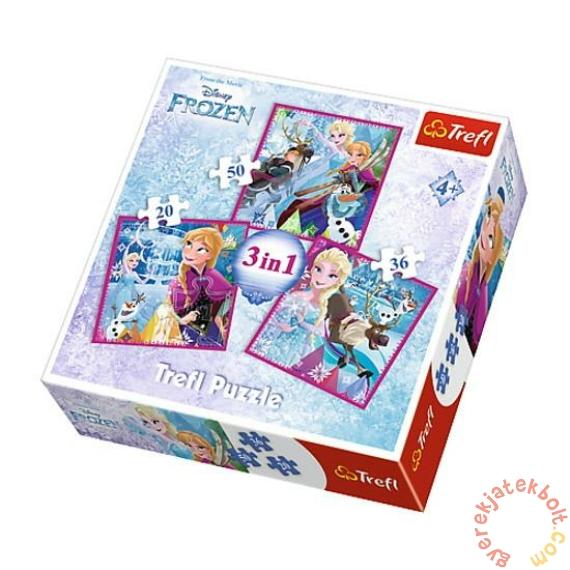 Trefl 3 az 1-ben puzzle (20,36,50 db-os) - Jégvarázs - Téli kalandok (34832)