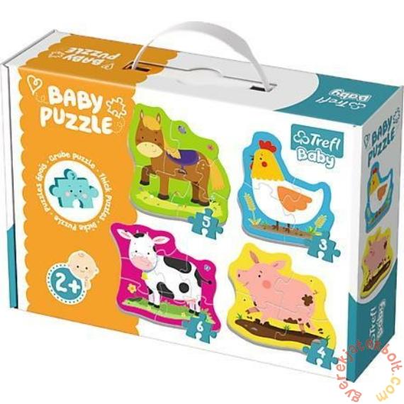 Trefl Baby Puzzle táskában - Első puzzle - Háziállatok (36070)