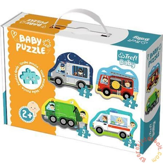 Trefl Baby Puzzle táskában - Első puzzle - Járművek (36071)