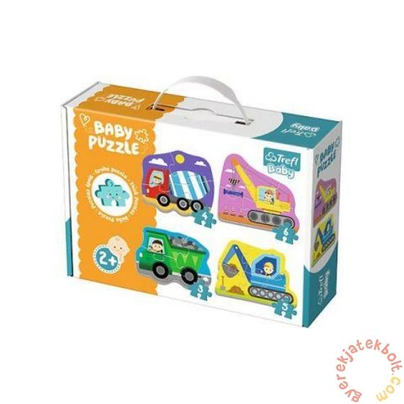 Trefl Baby Puzzle táskában - Első puzzle - Munkagépek (36072)