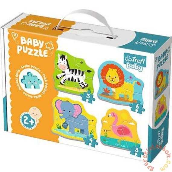 Trefl Baby Puzzle táskában - Első puzzle - Szafari állatok (36073)