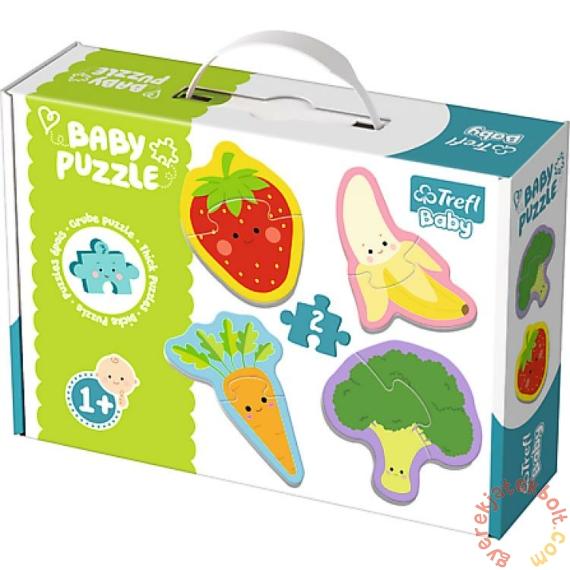 Trefl Baby Puzzle táskában -  Első puzzle - Zöldségek és gyümölcsök (36076)