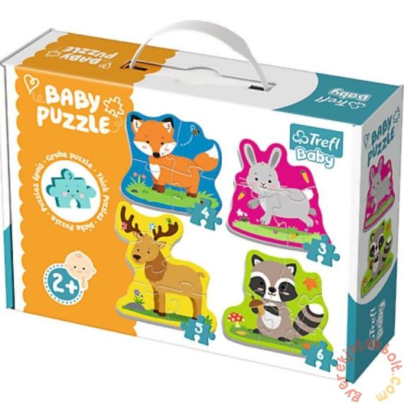 Trefl Baby Puzzle táskában -  Első puzzle - Erdei állatok (36077)