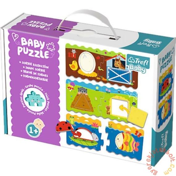Trefl Baby Puzzle táskában - Oktató puzzle - Formarendező (36078)