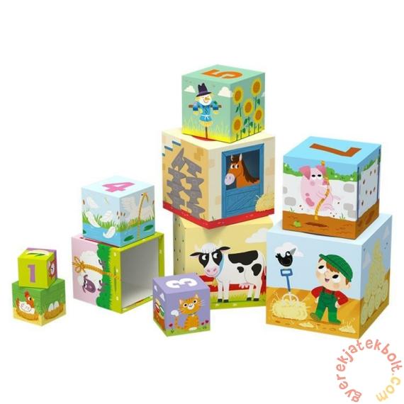 Trefl Baby toronyépítő kocka - A farmon (60468)