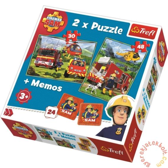 Trefl 2 az 1-ben puzzle és memóriajáték - Sam, a tűzoltó akcióban (90791)