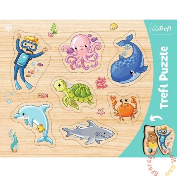 Trefl 7 db-os fahatású forma puzzle - Tenger állatai (31309)
