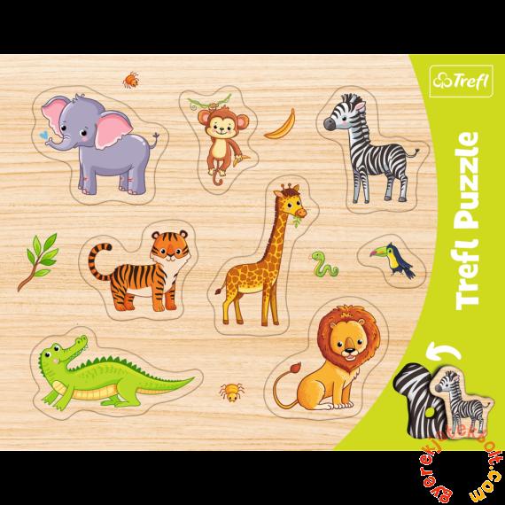 Trefl 8 db-os fahatású forma puzzle - Egzotikus állatok (31308)
