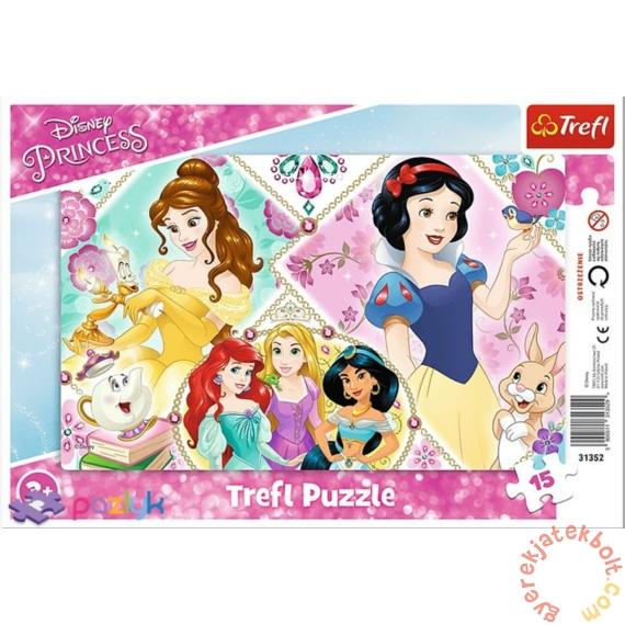 Trefl 15 db-os keretes puzzle - Disney hercegnők (31352)