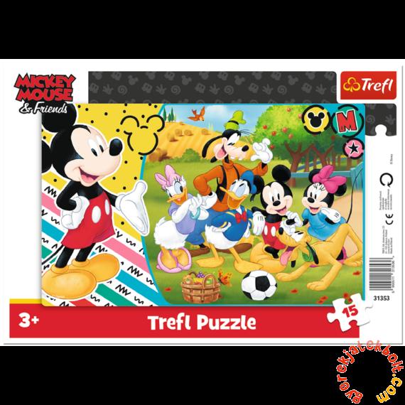 Trefl 15 db-os keretes puzzle - Mickey egér vidéken (31353)