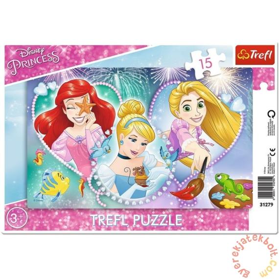 Trefl 15 db-os keretes puzzle - Disney Princess - Mosolygós hercegnők (31279)