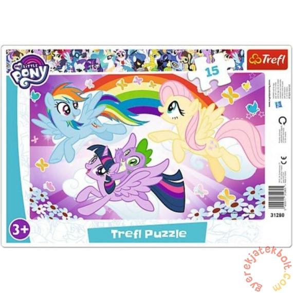 Trefl 15 db-os keretes puzzle - My Little Pony - Szivárvány kaland (31280)
