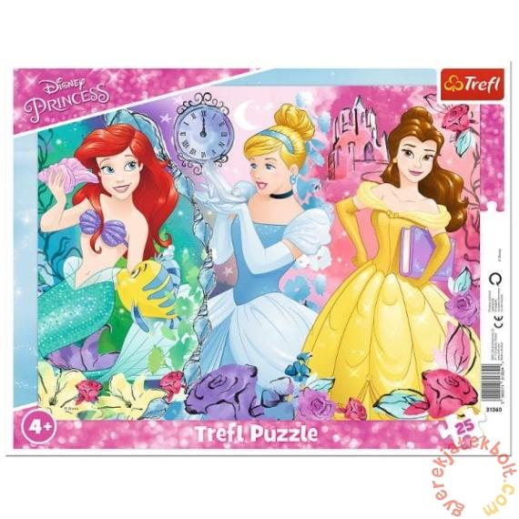 Trefl 25 db-os keretes puzzle - Disney hercegnők (31360)