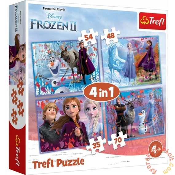 Trefl 4 az 1-ben puzzle (35,48,54,70 db-os) - Jégvarázs 2 (34323)