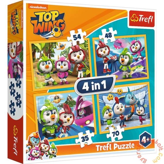 Trefl 4 az 1-ben puzzle (35,48,54,70 db-os) - Szuper Szárny (34342)