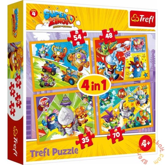 Trefl 4 az 1-ben puzzle (35,48,54,70 db-os) - SuperZings (34343)