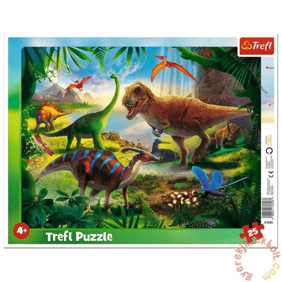 Trefl 25db-os keretes puzzle - Dinoszauruszok