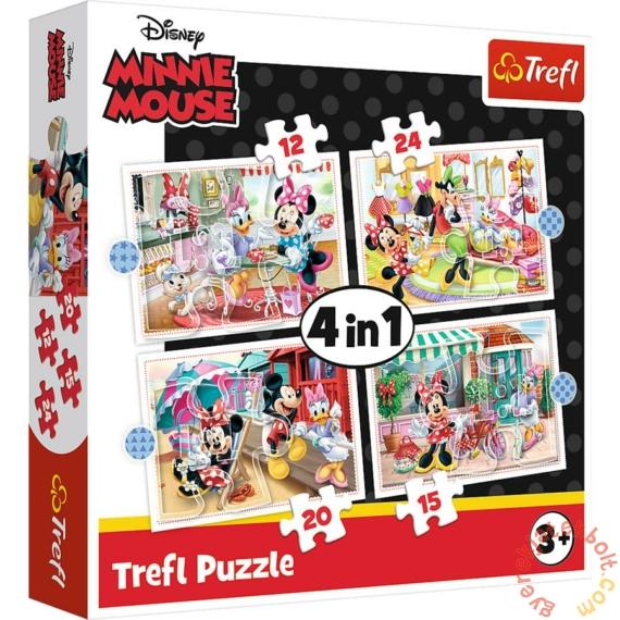 Trefl 4 az 1-ben puzzle (12,15,20,24 db-os) - Minnie Mouse és barátai