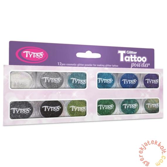 TyToo - Csillámpor szett - Legszebb hideg színek 12 x 2,5 ml (CTPS0033)