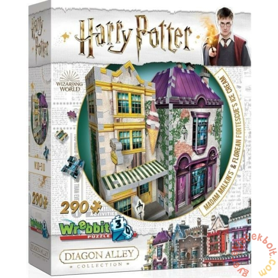 Wrebbit 290 db-os 3D puzzle - Harry Potter - Madam Malkin talárszabászata és fagylaltszalon (00510)