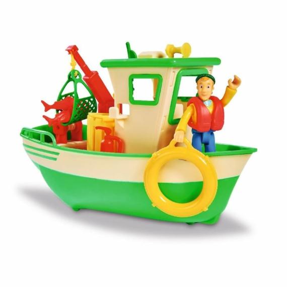Sam, a tűzoltó - halászhajó Charlie figurával