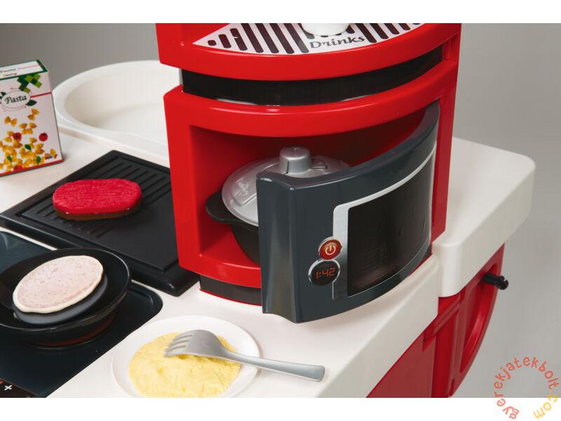 smoby cook master exkluz v j t kkonyha piros 311100 j t kkonyha. Black Bedroom Furniture Sets. Home Design Ideas