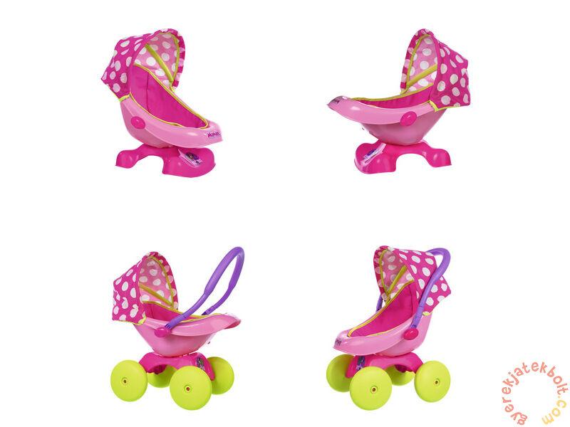 Smoby Minnie Mouse 4 az 1-ben babakocsi (542233) - Babázás 93a8ac8b44